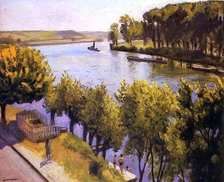 La frette montigny la seine - Albert Marquet-1947