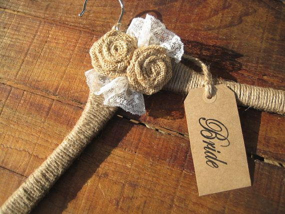 RUSTIC CHIC WEDDING hangers personalized brides hanger/name hangers/rustic chic custom gift
