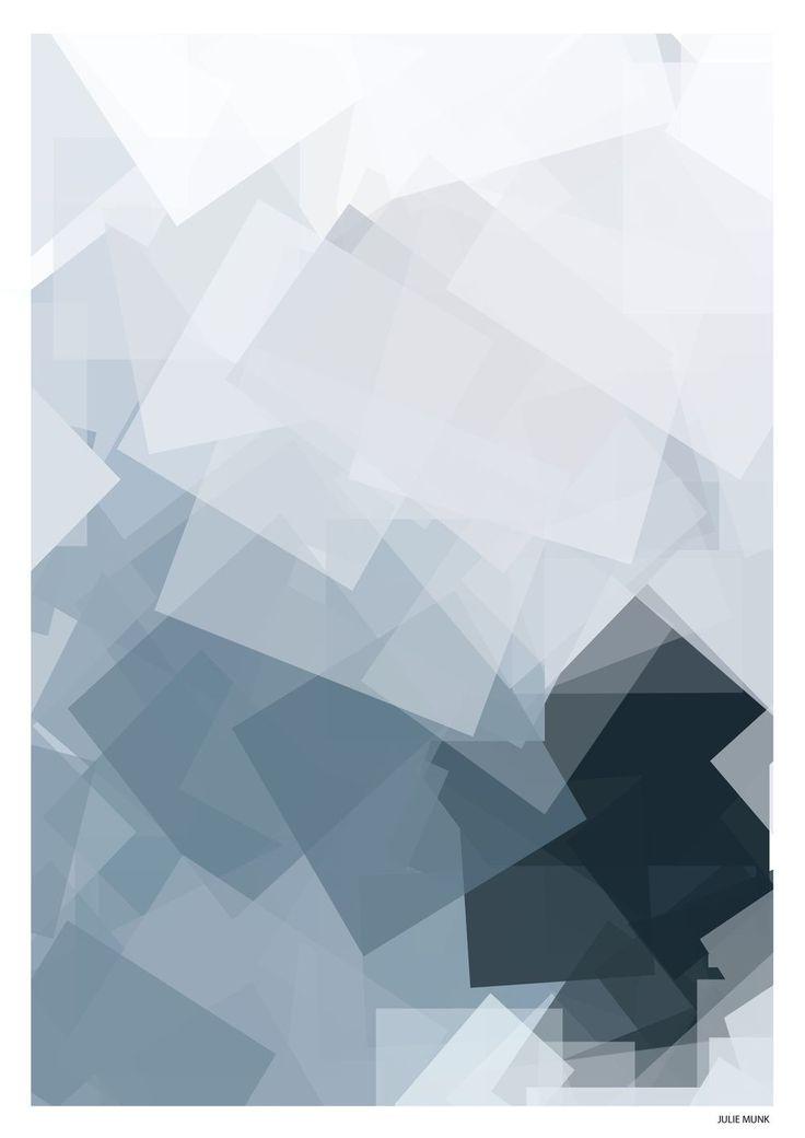 Krystal blå (50x70) via JULIE MUNK. Click on the image to see more!
