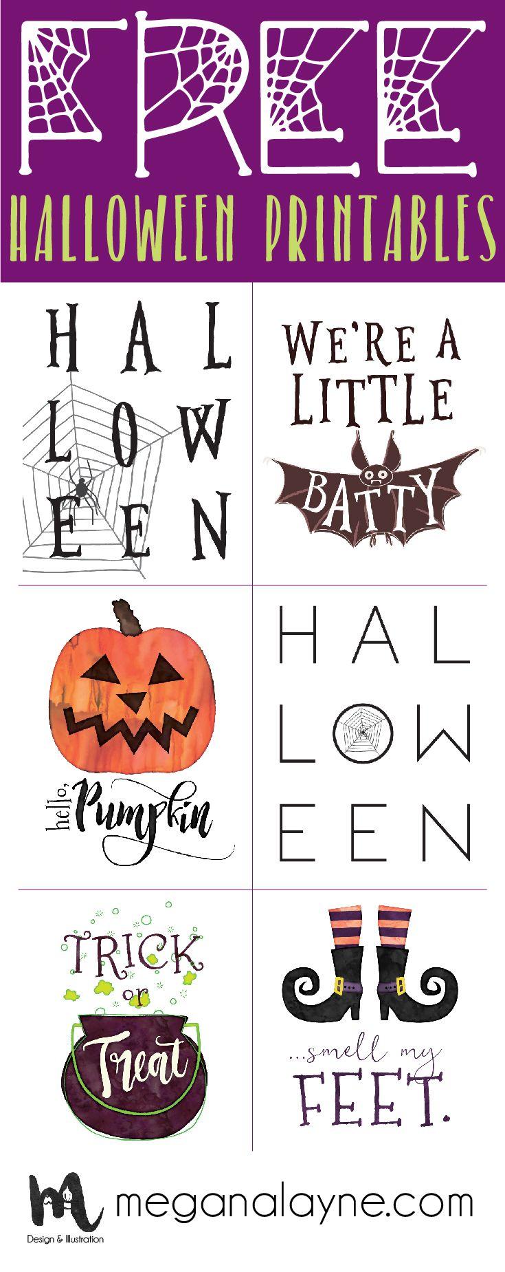 Free bundle of 8x10 Halloween Printables!