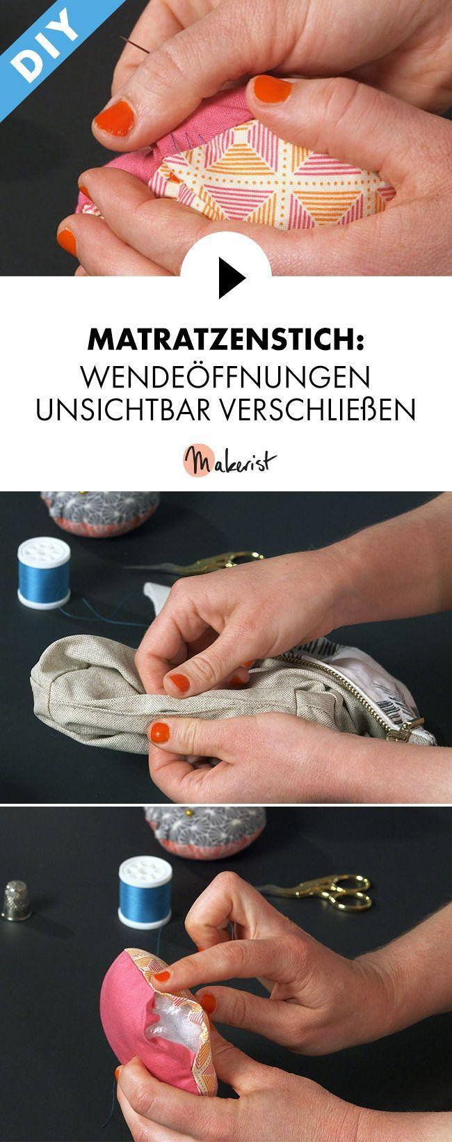 Matratzenstich nähen lernen - Schritt für Schritt erklärt im Video-Kurs via Makerist.de