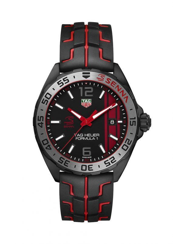 @tagheuer Formula 1 Senna Edition (Ref. WAZ1014.FT8027) - three hand version with date.  More info. @ http://www.watchtime.com/wristwatch-industry-news/watches/3-new-tag-heuer-limited-editions-pay-tribute-to-racing-legend-ayrton-senna/ #watchtime #tagheuer #menswatches