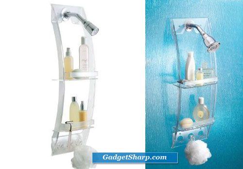 12 Modern Shower Caddy Designs For Your Neat Bathroom || InterDesign Grand Arc Shower Caddy