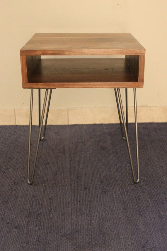 Walnut Mid Century Modern End Table by SterlingPickle on Etsy