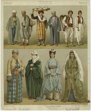 ABD'den çıkan görülmemiş Osmanlı fotoğrafları-Türk erkek-kadınların giyim kuşamları