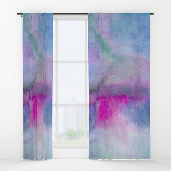 """Your drapes don't have to be so drab. Our awesome Window Curtains transform a neglected essential into an awesome statement piece. They're crafted with 100% lightweight polyester, and thick enough to block out some light - just slip your rod into the 4"""" pocket and you're good to go. All curtains are a single-sided print and measure 50"""" x 84"""". Available in single or double panel options. Machine wash cold (no bleach!) and tumble dry low."""