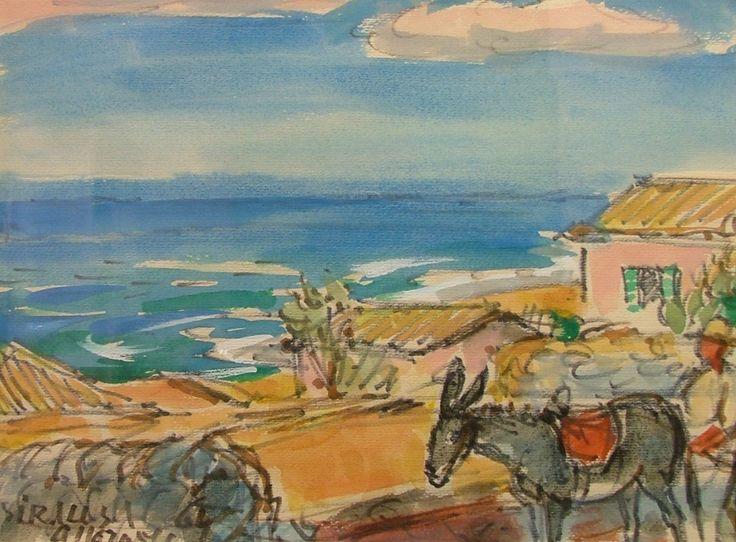 MORAVEC Alois (1899-1987): Syrakuzy, Sicílie.