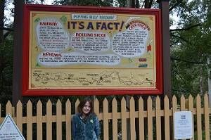 sign at puffing billy station