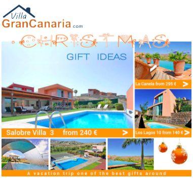 Newsletter de Navidad de casas vacacionales. Diseño en color naranja y azul cielo.