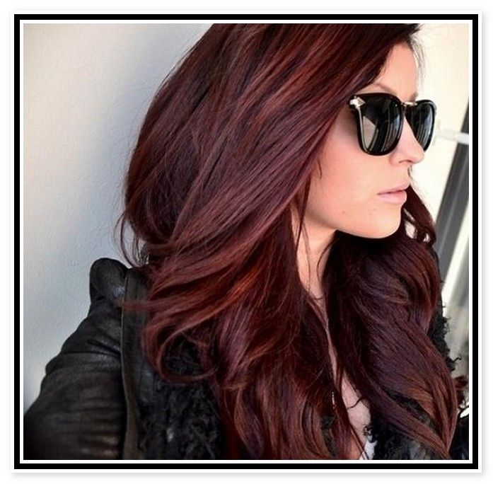 Red hair color ideas for long hair
