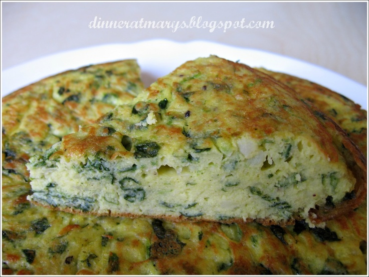 potato and spinach omelette