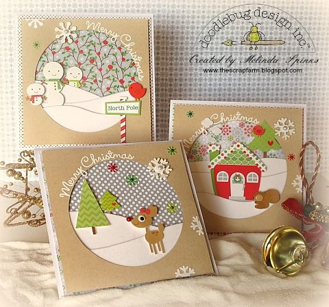 Holiday Cards by Melinda Spinks featuring the North Pole Collection from Doodlebug - Scrapbook.com