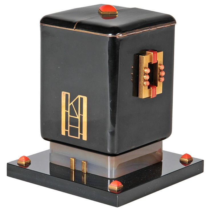 Maison Ostertag Important Art Deco Jewel Mounted Covered Box  C. 1925   1stdibs.com