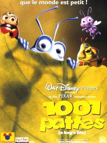 Affiche du dessin animé 1001 Pattes sortie en 1998