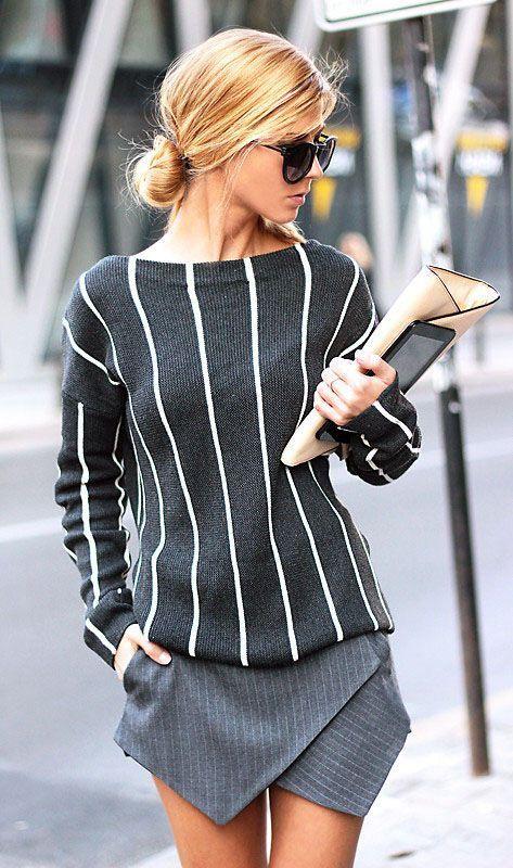 Gray on Gray / Stripe on Stripe / Cute on Cute
