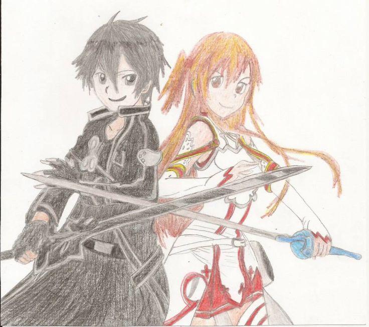 ~ Sword Art Online (ソードアート・オンライン) ~  ¬ Kirigaya Kazuto (桐ヶ谷 和人) / Kirito (キリト) ¬ Yuuki Asuna (結城 明日奈)