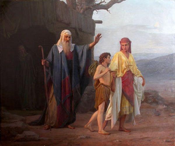 К. Н. Кудрявцев. Авраам изгоняет Агарь с сыном ее Измаилом. 1878 г.