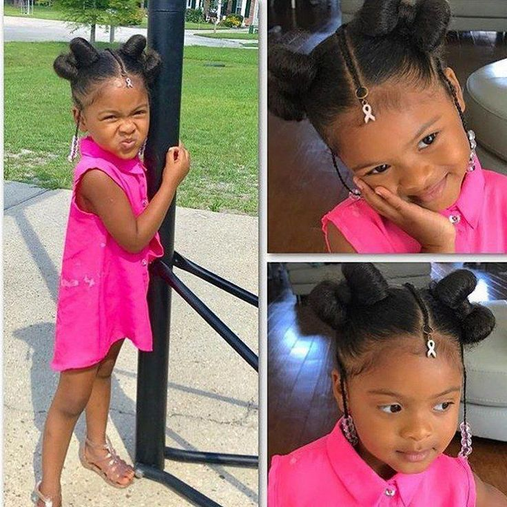 Another impressive kids hairstyle idea for little black girls is waiting to make you feel fantastic. Yes, these elegant hair buns will give a new look...