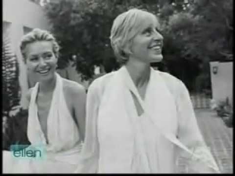 ellen degeneres and portia derossi wedding video