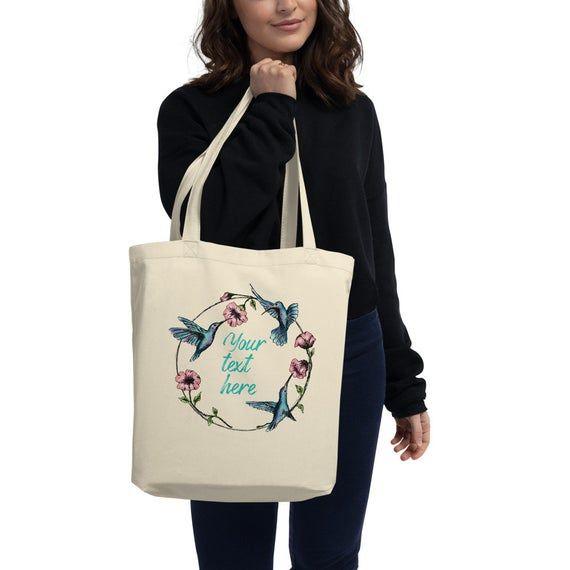 Hummingbird Bag, Custom toted Bags, Eco Tote Bag, Tote Bag