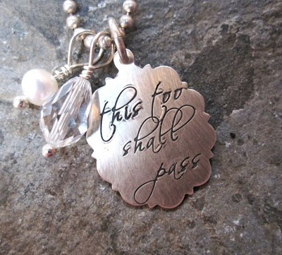 This Too Shall Pass.Hands Stamps, Mothers, Spoons Jewelry, Life Mottos, Favorite Quotes, Living, Accessories, Jewelry Ideas, Pass