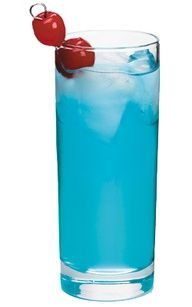Blueballs Drink! Delicious  1/2 oz Blue Curacao liqueur 1/2 oz Malibu® coconut rum 1/2 oz peach schnapps 1 dash Sprite® soda