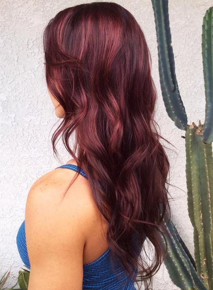 Top ▷ 1001 + visions splendides avec des cheveux bordeaux WB85