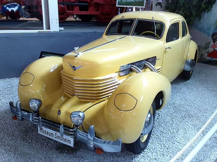 Art Deco - 1937 Cord automobile model 812, designed in 1935 by Gordon M. Buehrig and staff