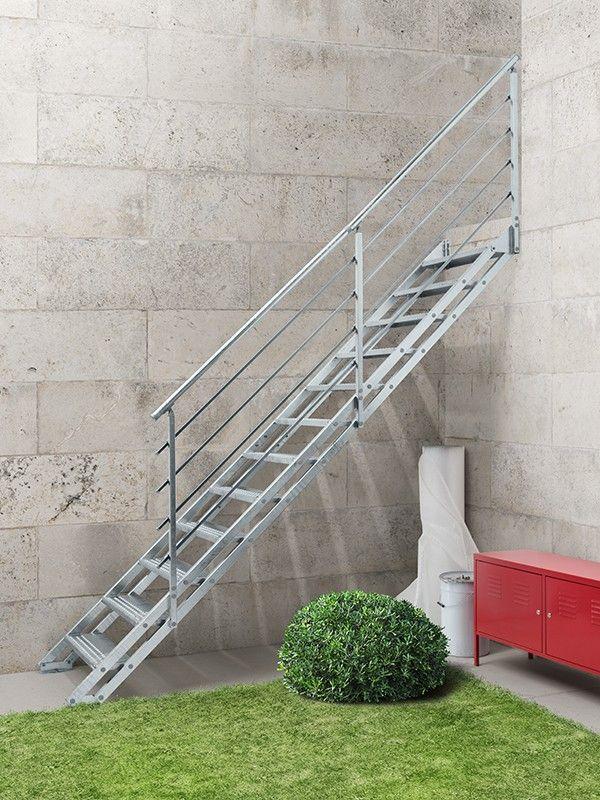 pop zink een rechte buitentrap 1 staircase outdoor staircase patio on zink outdoor kitchen id=21639
