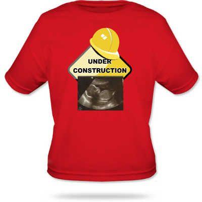 T-shirt under construction met echofoto