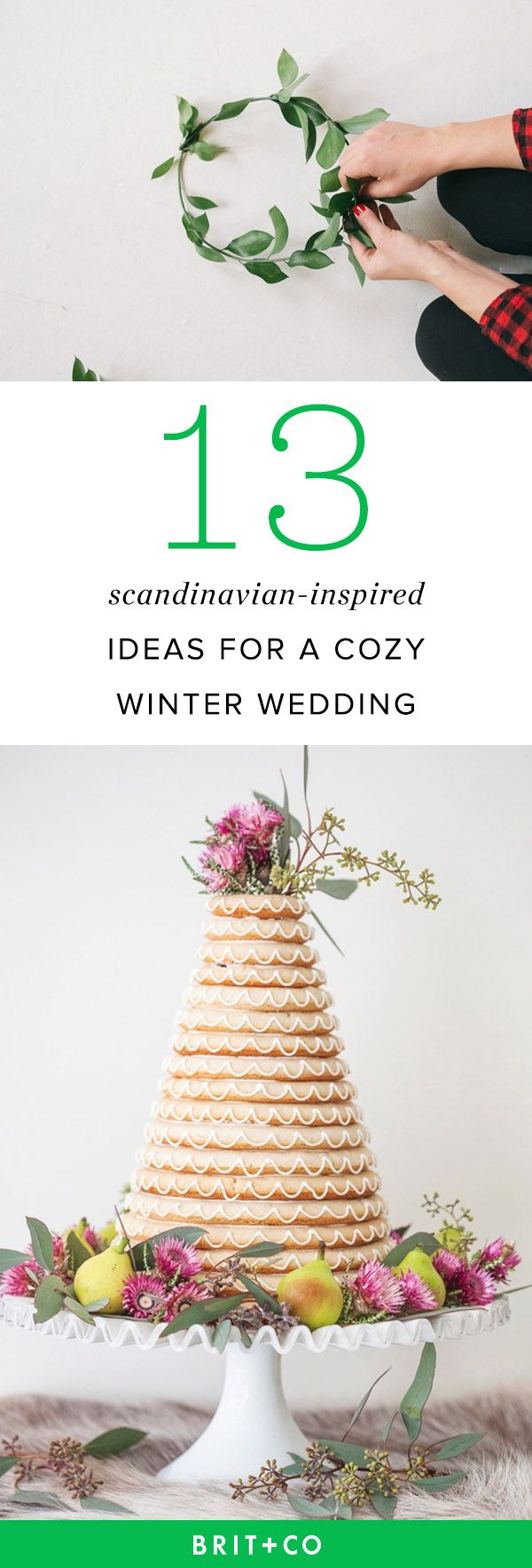 Get inspo for your winter wedding from these Scandinavian-inspired ideas.