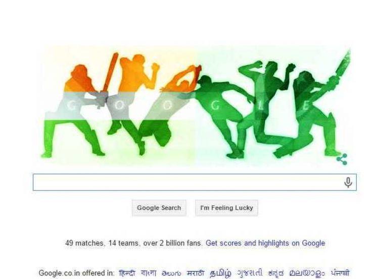2015 Cricket World Cup: Google Doodle Looks Ahead to India vs Pakistan
