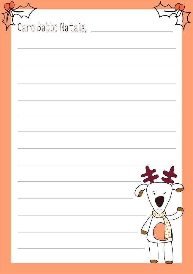 Dear Santa, ... Letterina a Babbo Natale {stampabile}