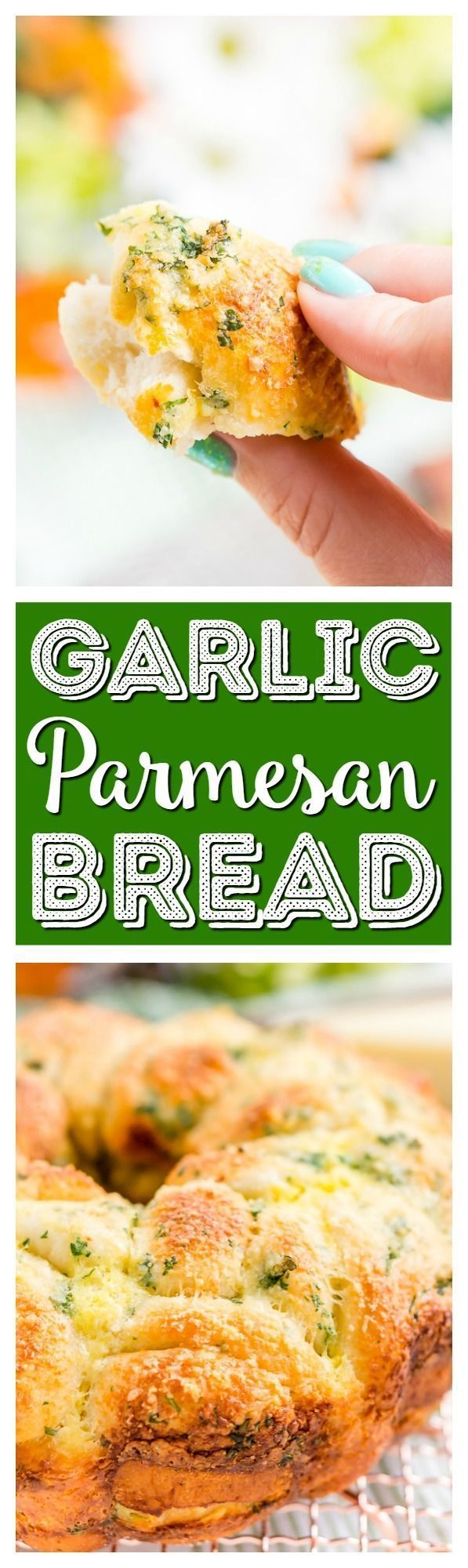This Garlic Parmesan Monkey Bread is so easy to make and packs tons of flavor! Perfect as a savory side for brunch and dinner! via @sugarandsoulco