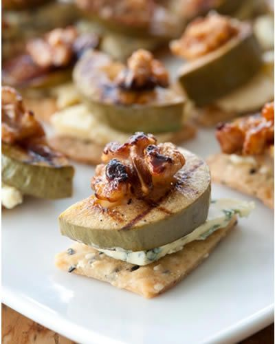 A variety of feijoa recipes, including chargrilled with blue cheese, feijoa mousse, and feijoa amber (like a crust-less meringue pie)
