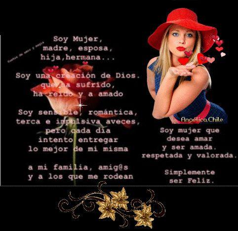 SUEÑOS DE AMOR Y MAGIA: Soy Mujer