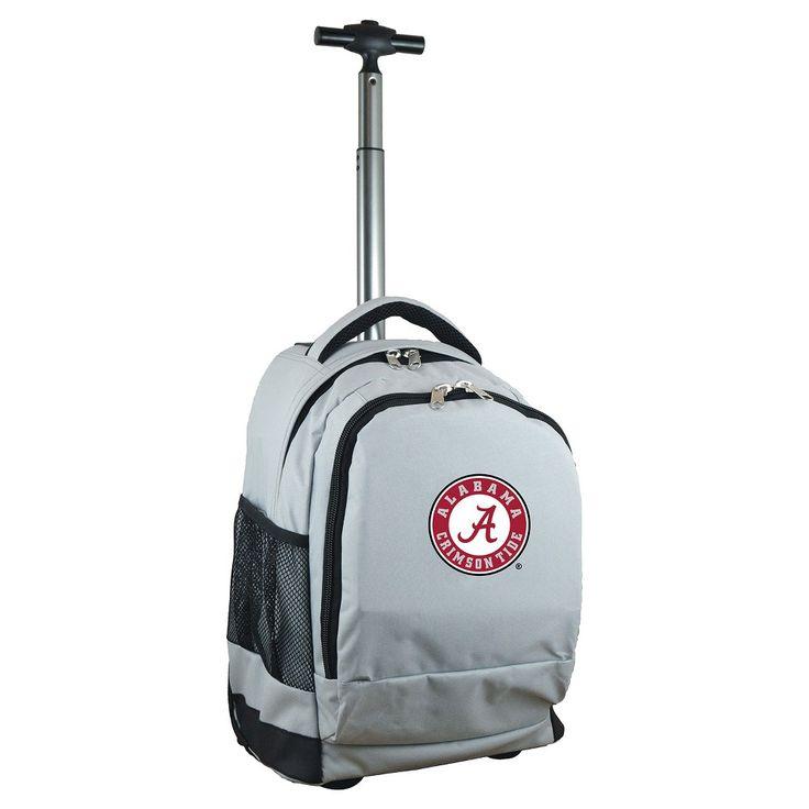 NCAA Alabama Crimson Tide Grey Premium Wheeled Backpack