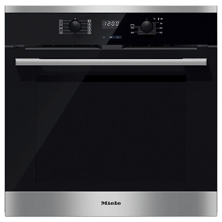 £685 inc FREE DELIVERY | MIELE H2561B Single Electric Oven Clean Steel. The Miele H2561B single electric oven is part of the contour line range of appliances