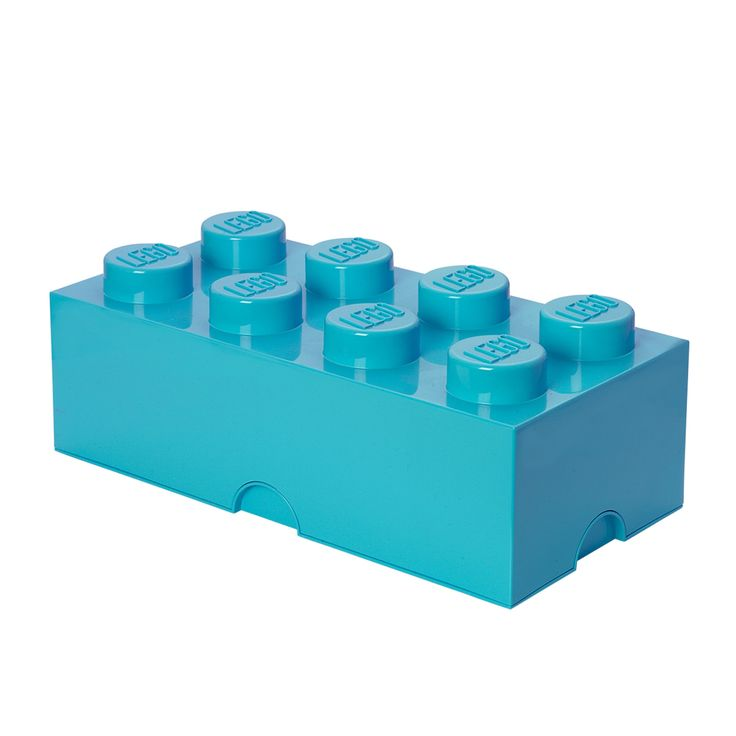 Lego Storage Brick 8 Medium Azur