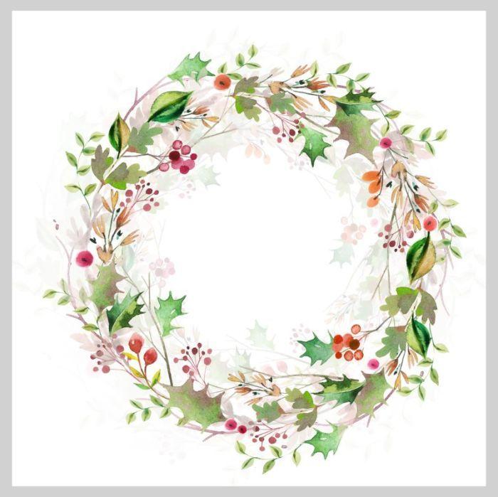 Victoria Nelson Watercolour Christmas Wreath