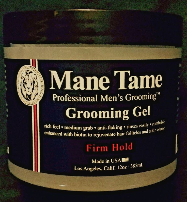 MANE TAME PROFESSIONAL MEN'S GROOMING GEL FIRM HOLD 12 OZ. MADE IN USA . #MANETAME