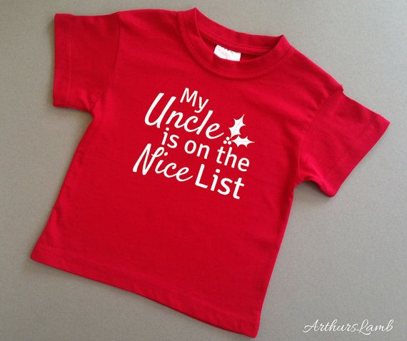 Nice List Uncle Christmas T Shirt,Family Christmas Gifts,Gifts for Him,Uncle Gift,Uncle,Christmas Gift Ideas,Family Gift,Christmas Shirt