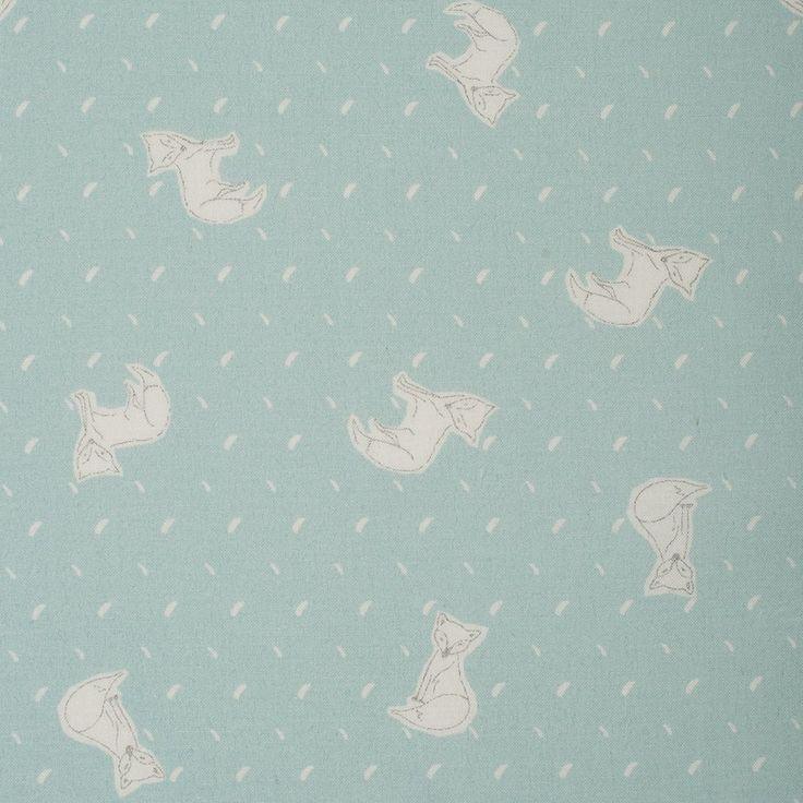 Tissu popeline renards  - Mondial Tissus