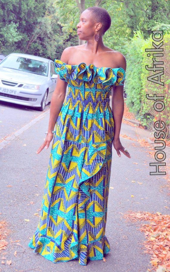 African print maxi dress par HouseofAfrika sur Etsy