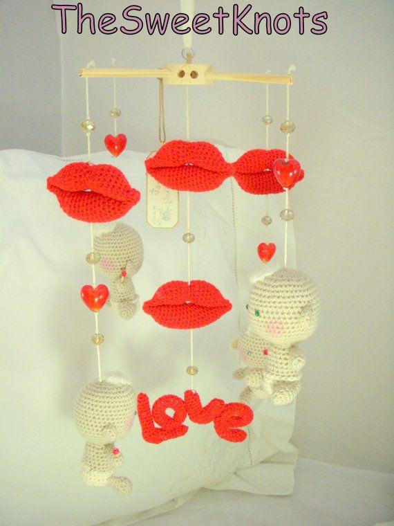 Mobile baby crochet newborn lollipop by TheSweetKnots on Etsy, $130.00