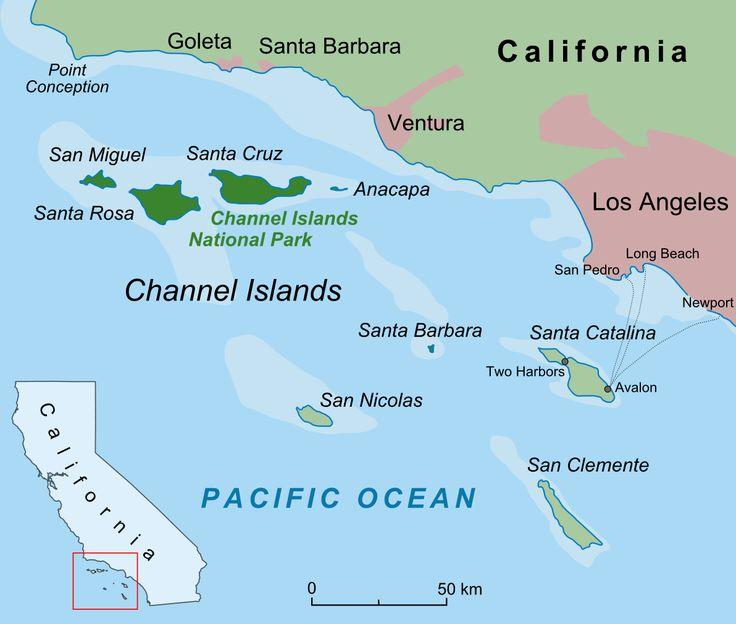 les îles channel californie | Le parc national des Channel Islands, situé au large de Santa Barbara ...