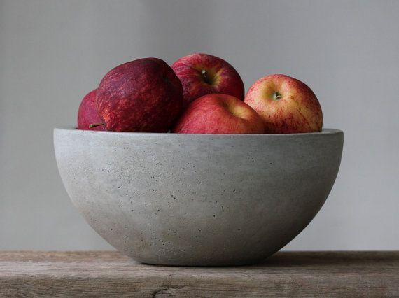 """Concrete Fruit Bowl 10"""""""