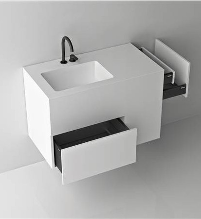 Boffi / Quadtwo_Jeffrey Bernett, made in corian and perfect for a guest bathroom. you can find it in aquaquae.com