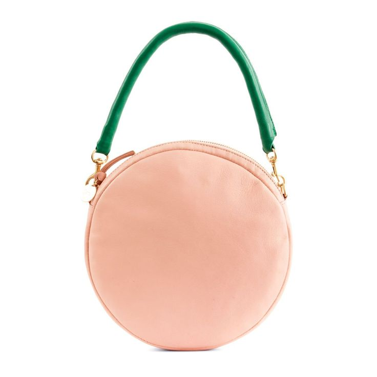 The Blush Golfa Circle Clutch is a round top-handle clutch which comes in both solid leather and beaded patterns. It can be worn by its top handle or clutched,
