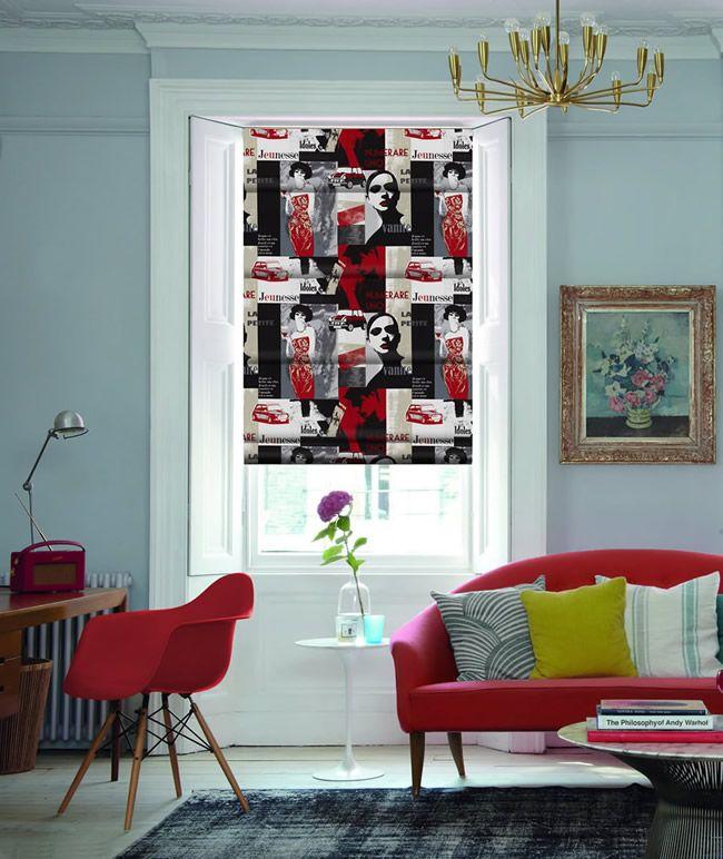 Designer Pop Art Roman Blinds